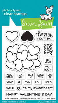 How You Bean? Conversation Heart Add-On Clear Stamps - Lawn Fawn