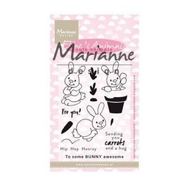 "Clearstamps ""Eline's Cute Animals - Bunnies"" - Marianne Design"