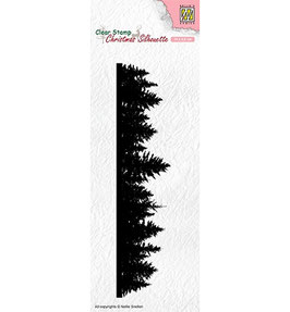 """Clearstamp """"Christmas Silhouette - Pine Tree Border"""" - Nellies Choice"""