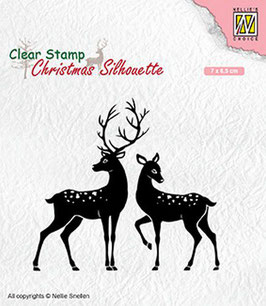 """Clearstamps """"Christmas Shiulouette Deer"""" - Nellies Choice"""