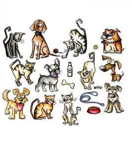 "Framelits Die Set ""Mini Crazy Cats & Dogs"" - Sizzix (Tim Holtz)"