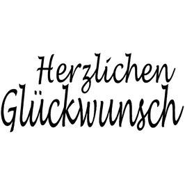 """Holzstempel """"Herzlichen Glückwunsch"""""""