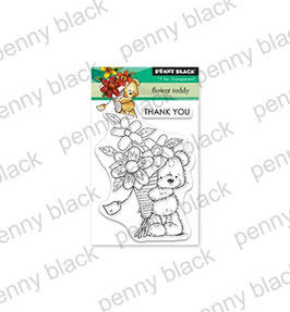 "Mini-Clearstampset ""Flower Teddy"" - Penny Black"