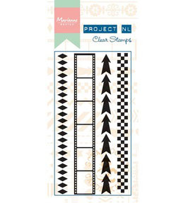 Clear Border Stamp, Arrows - Marianne Design