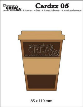 "Cardzz #5 ""Mug To Go"" - Crealies"