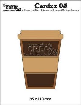 "Cardzz #5 ""Mug To Go"" - Crealies"