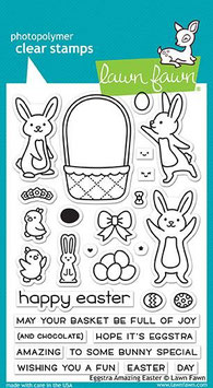 "Clearstamp ""Eggstra Amazing Easter"" - Lawn Fawn"