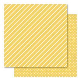 Hearts & Stripes Foiled Cardstock, Gold - Bella