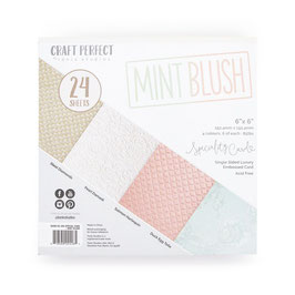 Mint Blush Embossed Paperpad 6x6 - Tonic Studios