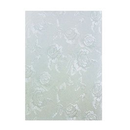 "Luxury Embossed Card A4 ""Duck Egg Toile"" - Tonic Studios"