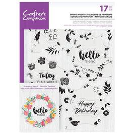 "Clearstampset ""Spring Wreath"" - Crafter's Companion"
