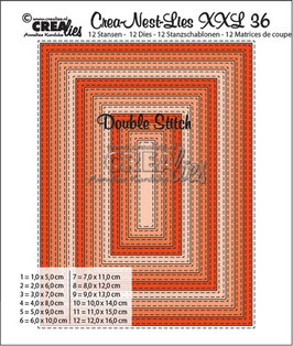 "Crea-Nest-Lies XXL ""Double Stitch Rectangle"" - Crealies"