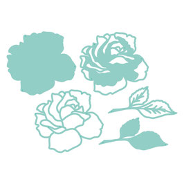 "Stanzschablone ""Layered Rose"" - Kaisercraft"