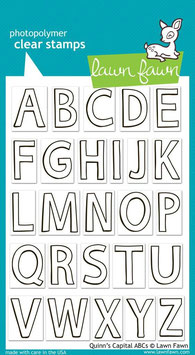 Clearstamps Quinns Capital ABCs - Lawn Fawn