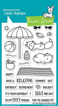 "Clearstampset ""On The Beach"" - Lawn Fawn"