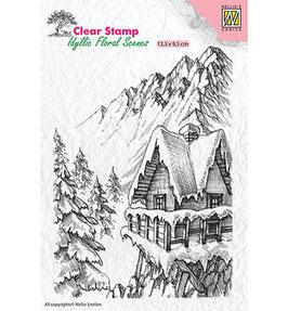 "Clearstamp ""Winter Scene #2"" - Nellie's Choice"