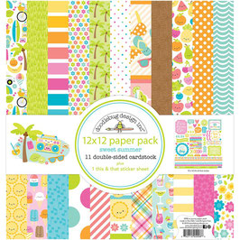 Sweet Summer Paper Pack 12x12 - Doodlebug