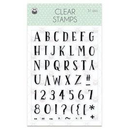 """Clearstamp """"Buchstaben & Zahlen"""" - Piatek13"""