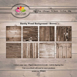 "Paper Pack ""Wooden Background Rustiq"" - Dixi Craft"