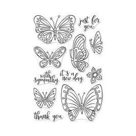 "Clearstamps ""New Day Butterflies"" - Hero Arts"