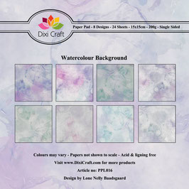 "Paper Pack ""Watercolour Background"" - Dixi Craft"