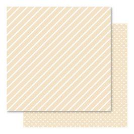 Hearts & Stripes Foiled Cardstock, Vanilla - Bella