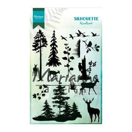 "Clearstamps ""Silhouette Woodland"" - Marianne Design"