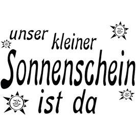 """Holzstempel """"Unser kleiner Sonnenschein"""""""