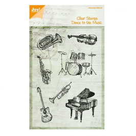 "Clearstampset ""Musikinstrumente"" - Joy!Crafts"