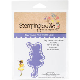 Tiny Townie Garden Girl Daffodil Die - Stamping Bella