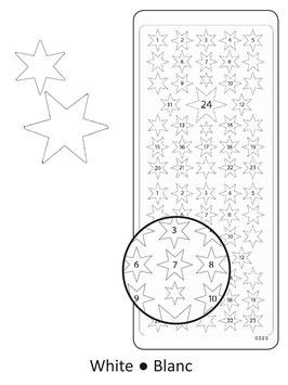 Sticker Adventskalenderzahlen, Weiss