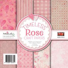 Timeless Rose 6x6 Paperpad - Polkadoodles