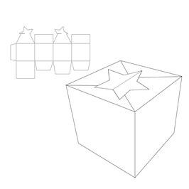 """Stanzschablone """"Box with Star"""" - Vaessen"""