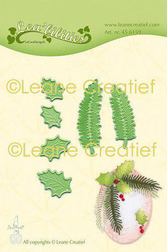"""Stanzschablone """"Holly & Pine Branches Small"""" - Leane Creatief"""