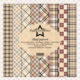 Plaid Pattern 6x6 Paperpad - Dixi Craft
