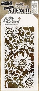 """Layered Stencil """"Bouquet"""" - Tim Holtz"""