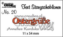 """Stanzschablone """"Ostergrüße"""" - Crealies"""