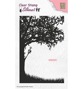 "Clearstamp ""Scene With Tree"" - Nellies Choice"