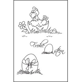 "Clearstamp ""Frohe Ostern"" - EFCO"