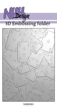 "3D Prägeschablone ""Cards"" - NHH Design"