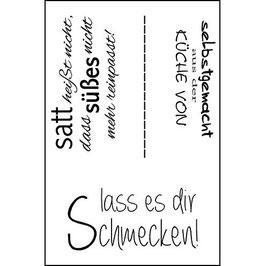 """Clearstamp """"Lass es dir schmecken"""" - EFCO"""