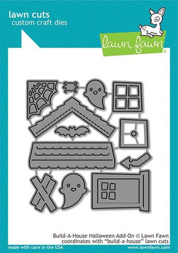 "Stanzschablone ""Build-A-House Halloween Add-On"" - Lawn Fawn"