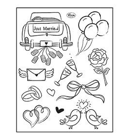 Just Married, Clearstamp - VIVA