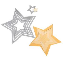 Framelits Schablonen-Set Sterne - Sizzix
