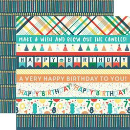 Happy Birthday Boy, Border Strips - Echo Park Paper
