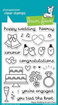 "Clearstampset ""Happy Wedding"" - Lawn Fawn"
