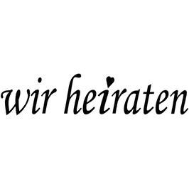 """Holzstempel """"wir heiraten"""""""
