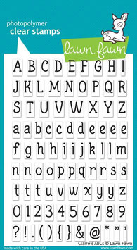 Clearstamps Claire's ABCs - Lawn Fawn