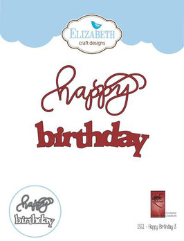"Stanzschablone ""A Way With Words, Happy Birthday 3"" - Elizabeth Craft Designs"