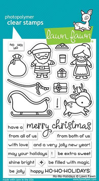 "Clearstampset ""Ho-Ho-Holidays"" - Lawn Fawn"